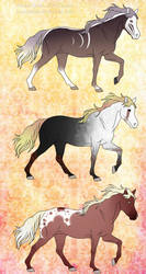 Horse adopts (prices reduced) by Exotic-Orchid
