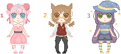 Pixel Adopt Batch o1. / CLOSED by FlarAndDei-Adopts