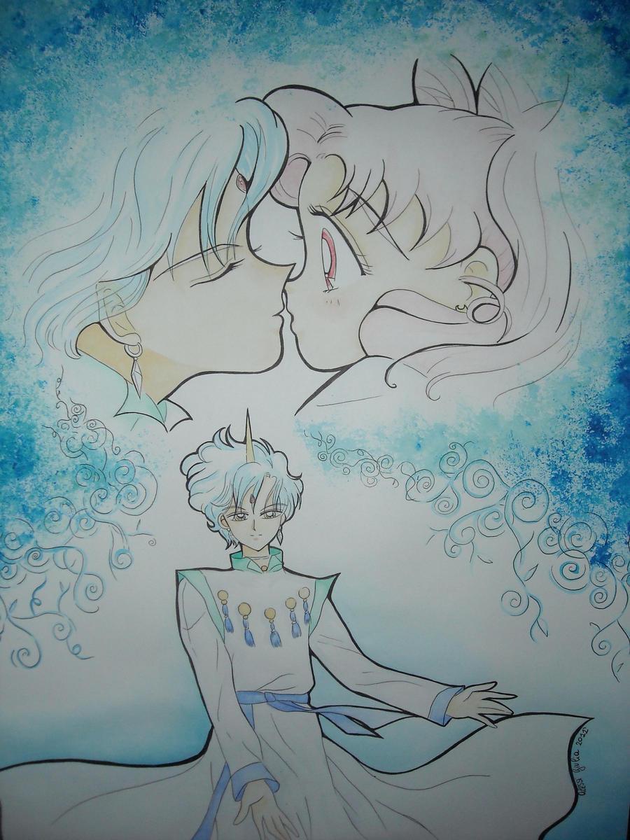 Chibiusa and Helios by giulystar-chan