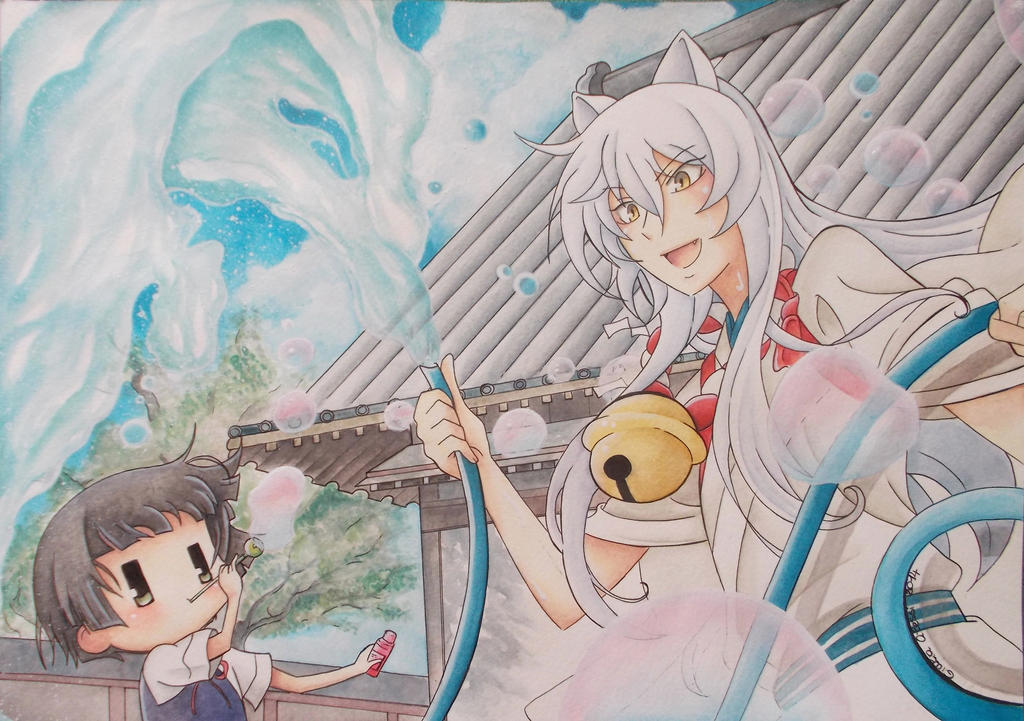 Gugure! Kokkuri-san - Kokkuri and Kohina by giulystar-chan