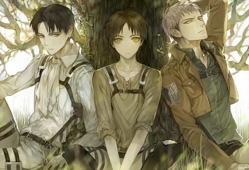 Levi x Eren x Jean