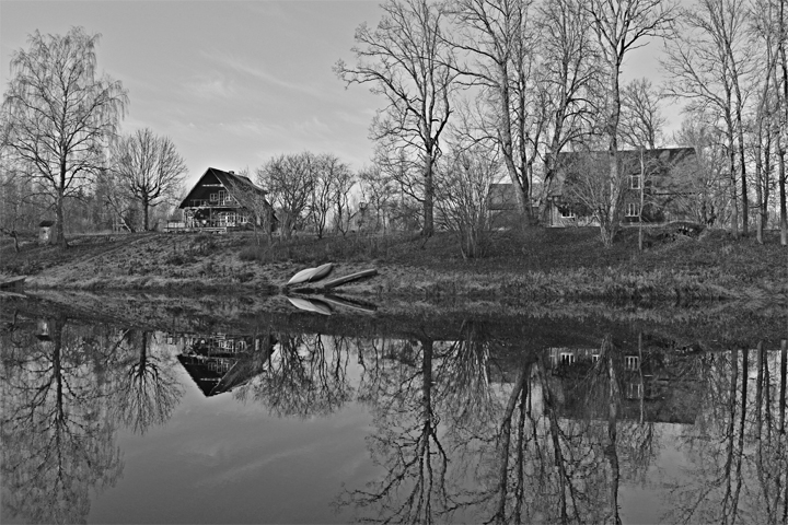 Reflection - BW by DreamIsMyReality