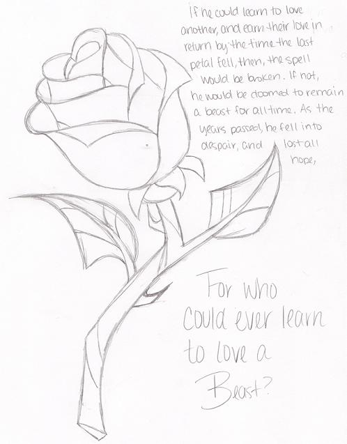Enchanted Rose Drawing: Enchanted Rose By Yuffie135 On DeviantArt