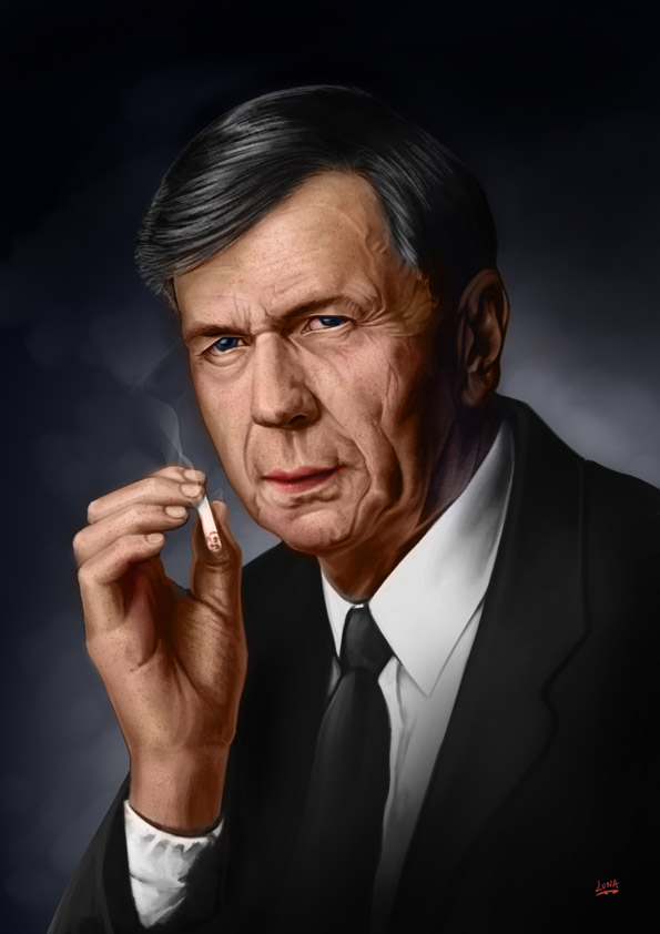 an image of older distinquished man smoking a cigarette