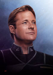 Babylon 5 John Sheridan by Lun-art