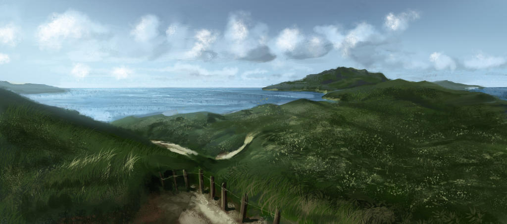 Japan Coast 1 by Lun-art