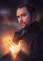 Supernatural - Crowley by Lun-art