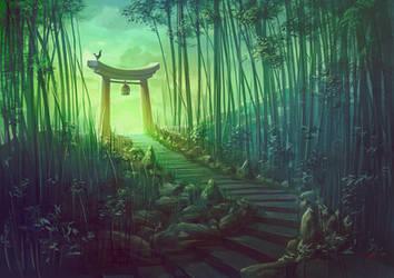 Torii Shrine by Lun-art