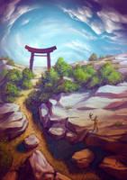 Torii Nature by Lun-art
