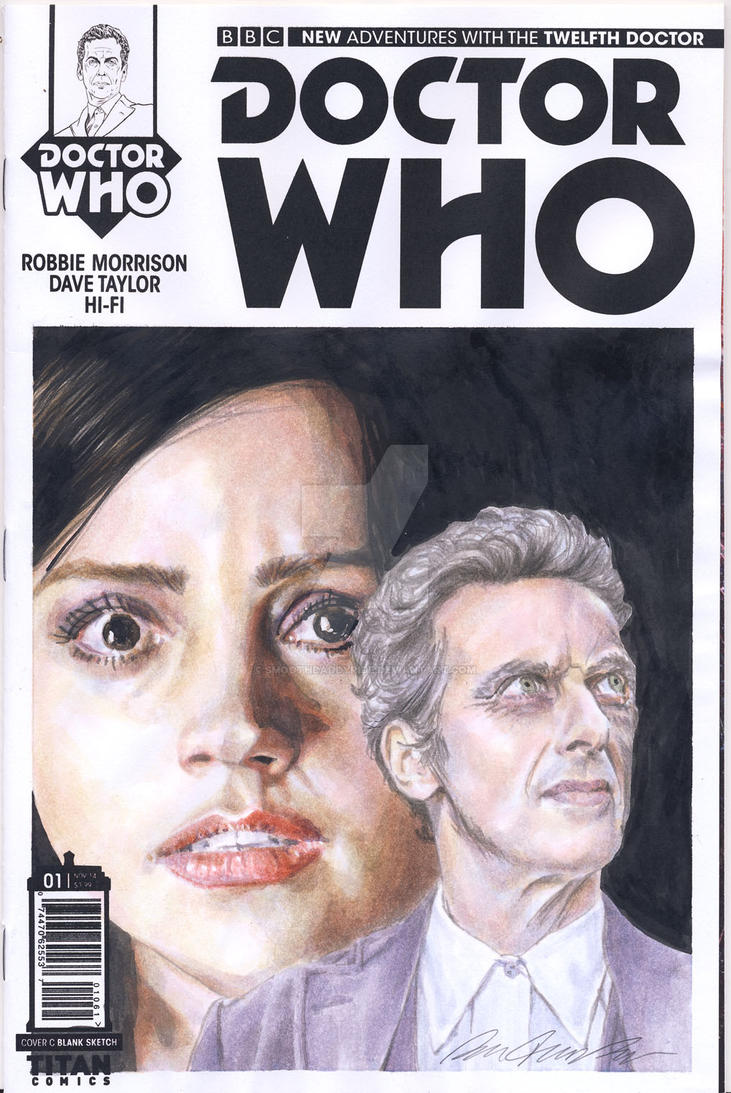 Doctor Who blank sketch cover watercolor painting by smoothdaddyride