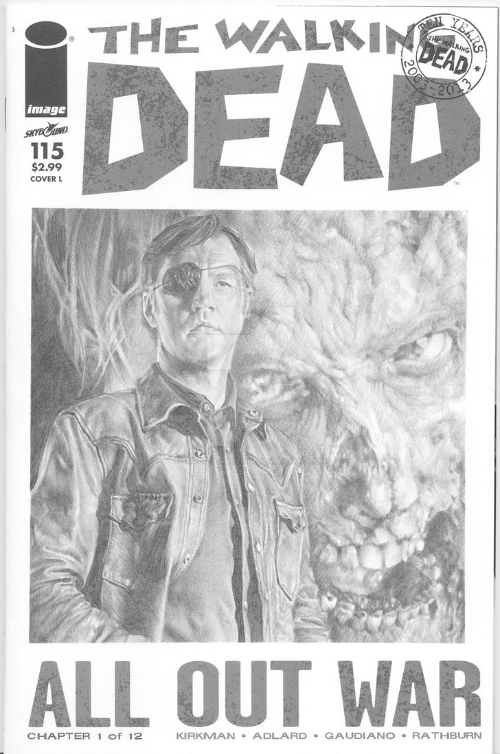 The Walking Dead sketch cover graphite drawing by smoothdaddyride