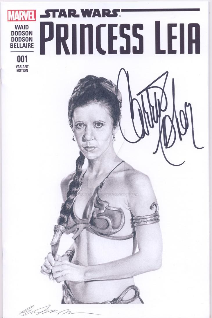 Princess Leia blank sketch cover commission by smoothdaddyride