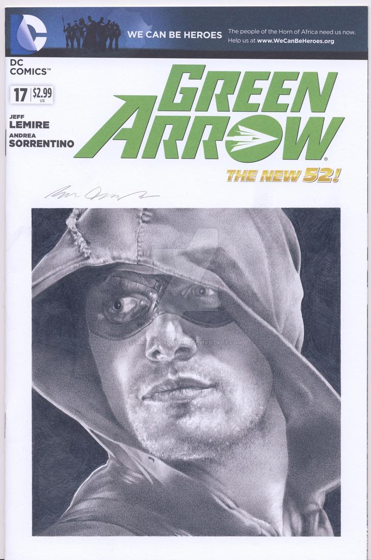 Green Arrow blank sketch cover comm by smoothdaddyride