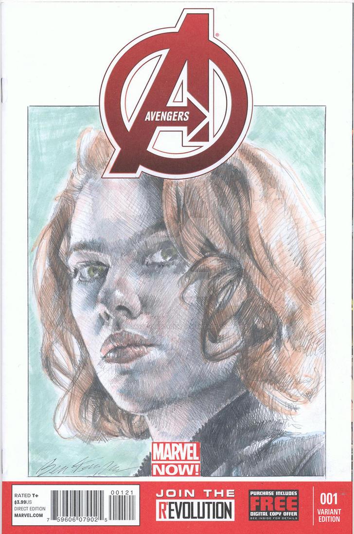 Black Widow blank sketch cover by smoothdaddyride