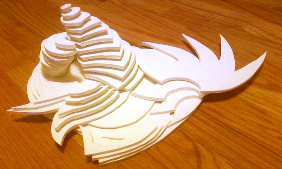 Foam core sculpture by thewooweewoo on deviantart
