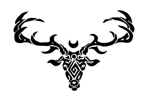 Stag Tribal 124587575 on Hello Kitty Decal