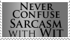 Sarcasm is not Wit by scuffndings