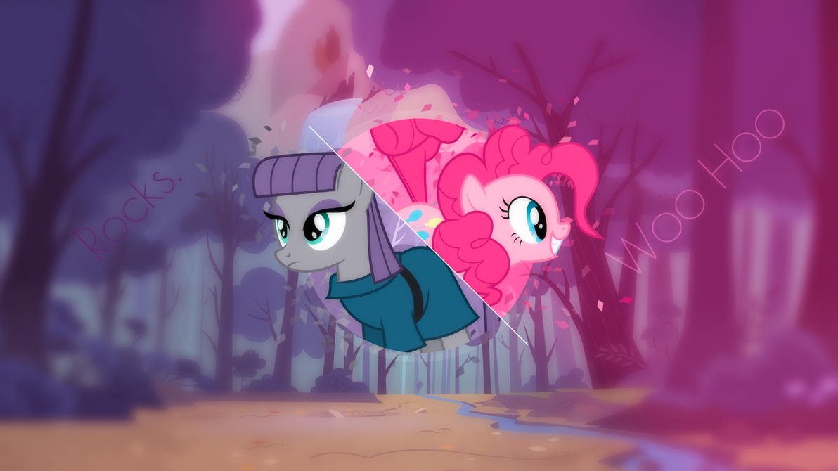 Maud Pie and Pinkie Pie wallpaper