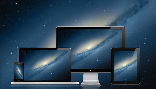 Mac OSX Mountain Lion Galaxy Desktop Wallpaper
