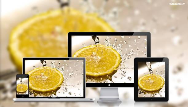 Splash of lemon Wallpaper