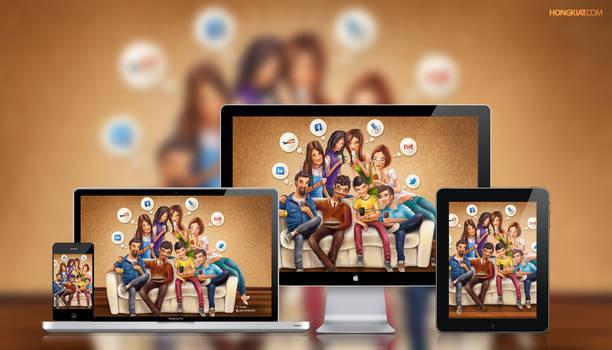 Social Media Junkie Wallpaper