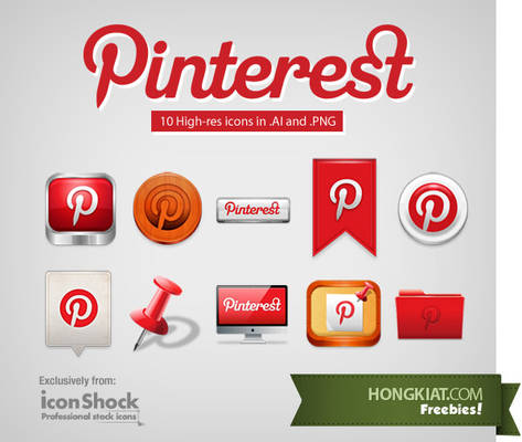 Pinterest Iconset