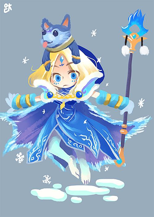 Crystal maiden arcana by EDICH-art on DeviantArt