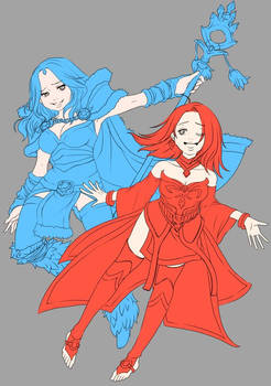lina and crystal maiden