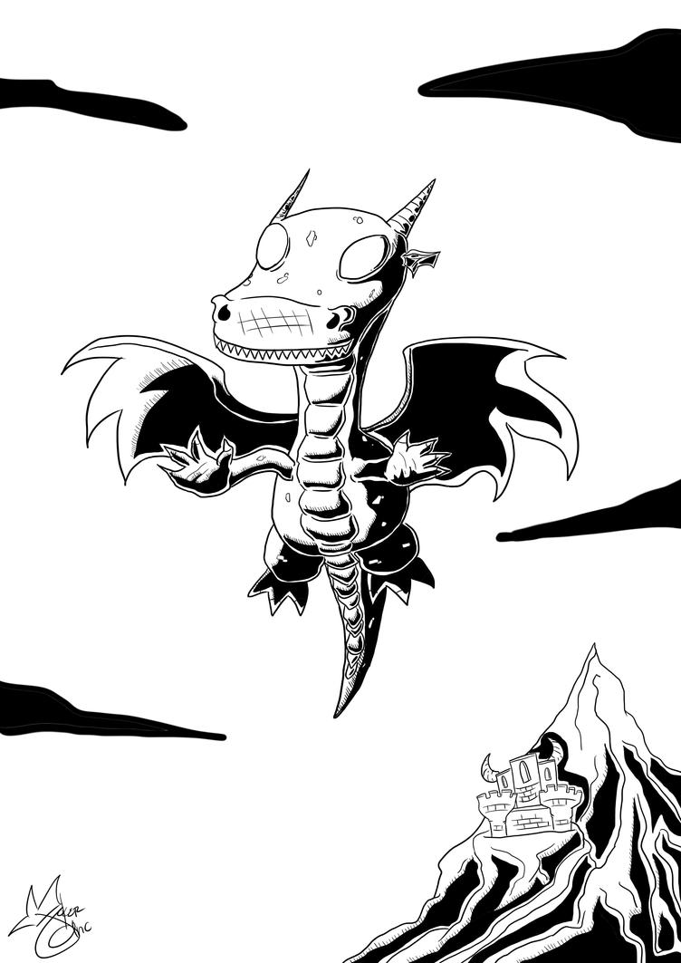 B and W Dragon by Jokerinc