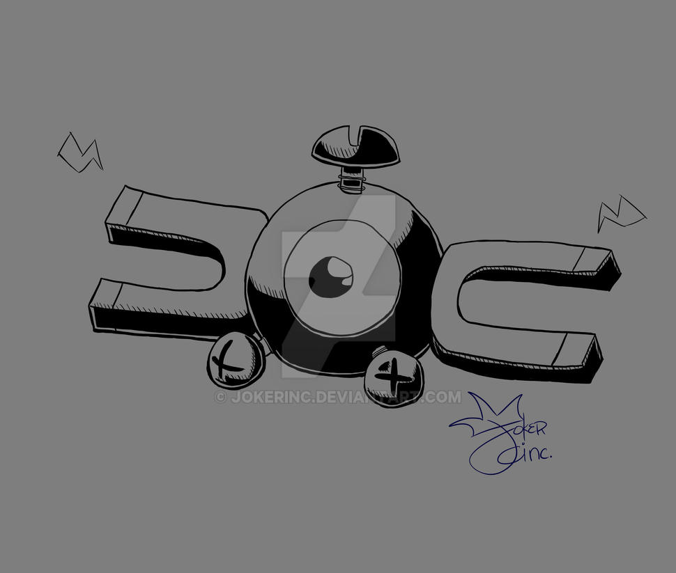 Magnemite Doodle by Jokerinc