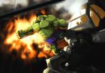 Hulk Versus Helicopter