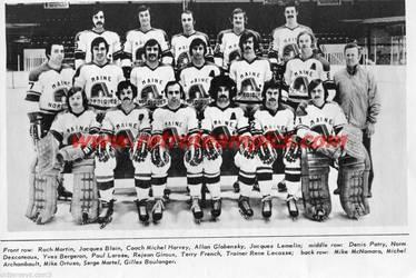 1973-74 Maine Nordiques by danwind