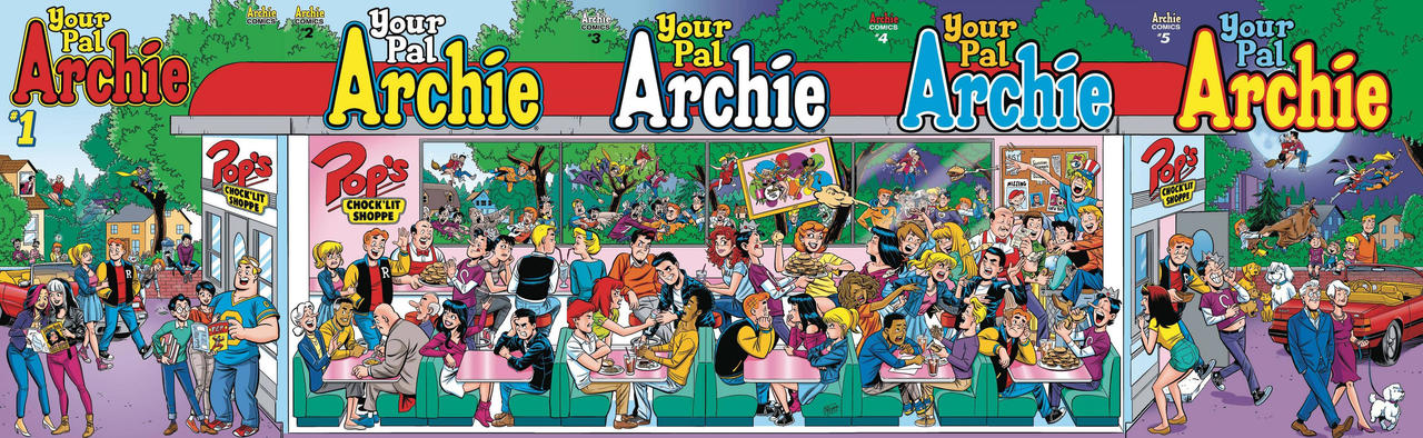 Archie and his friends by Les McClaine
