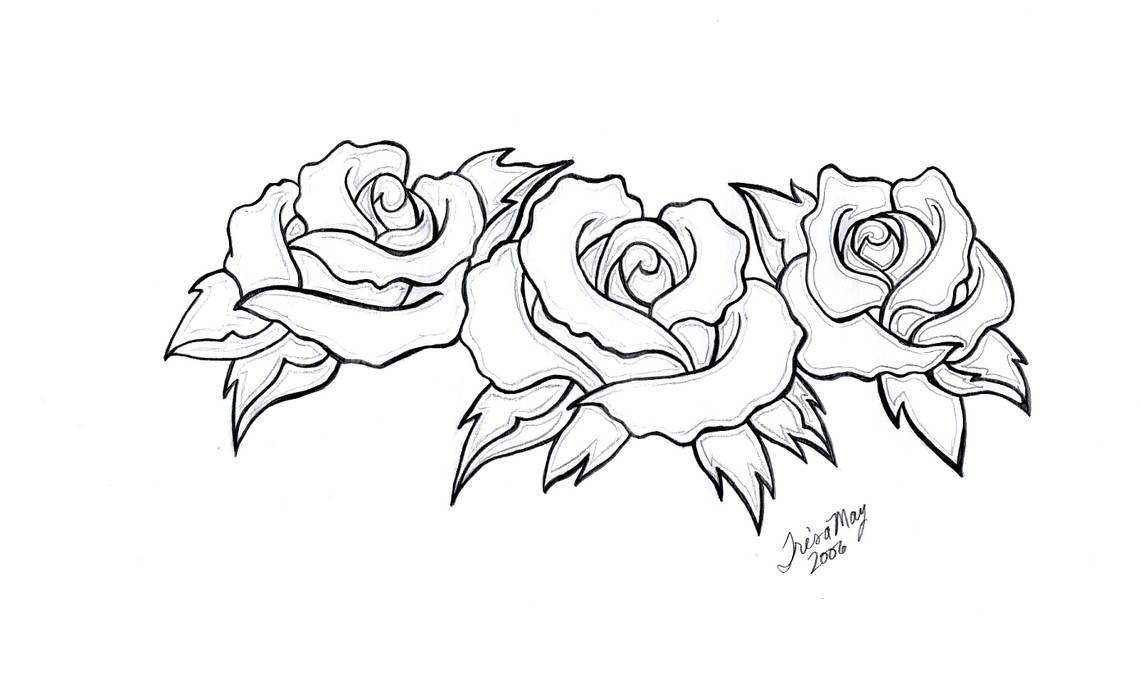 b2b8e1a33e18b three roses tattoo design by TailorMaid on DeviantArt