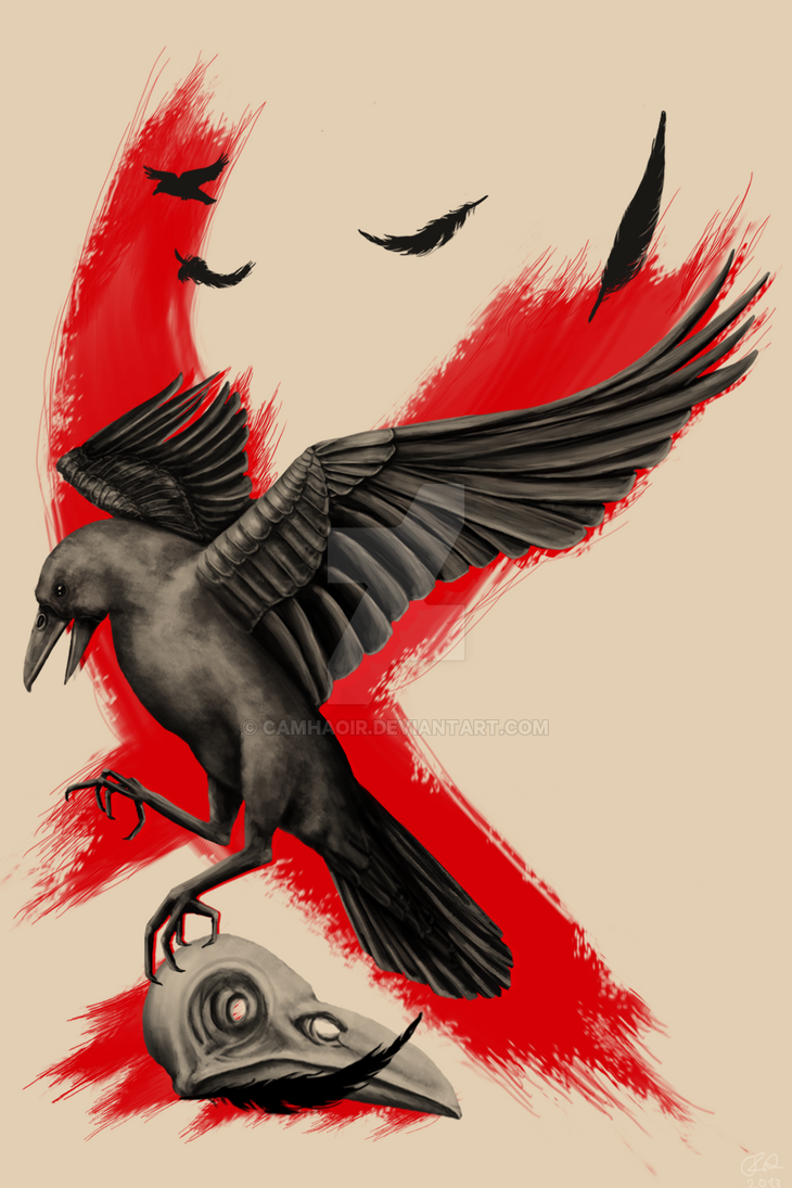 tattoo design crow by camhaoir on deviantart. Black Bedroom Furniture Sets. Home Design Ideas