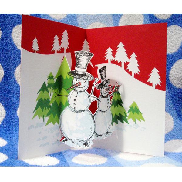 Christmas card - pop up 01