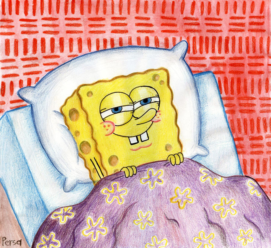 spongebob sleeps by spongepersa on deviantart