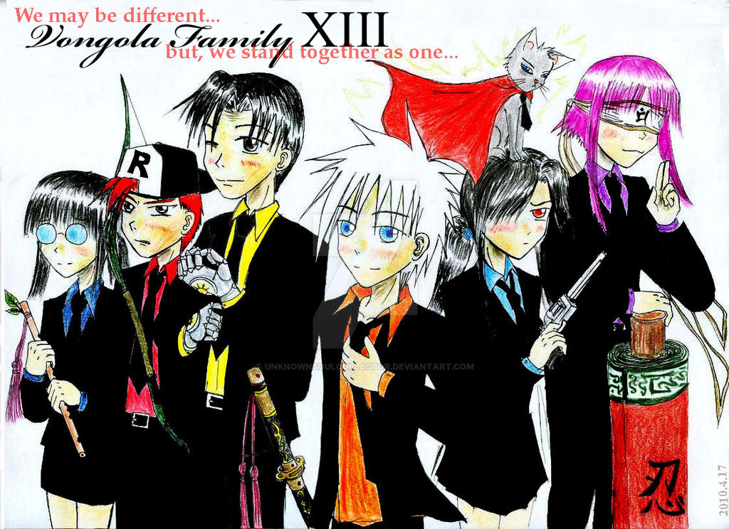 Vongola Family XIII the Seven by UnknownSoulCollector