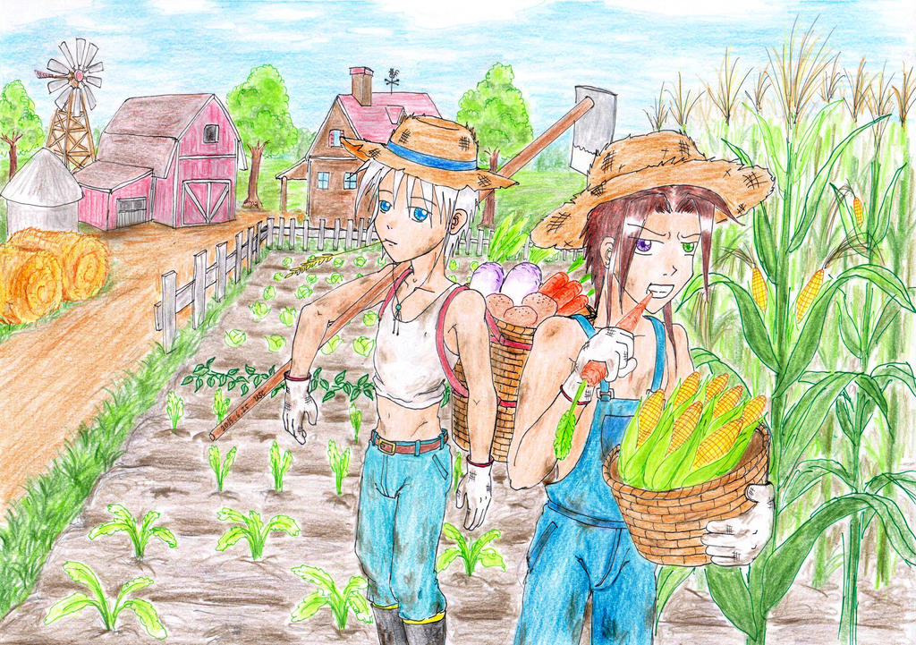 Farm work boys by UnknownSoulCollector