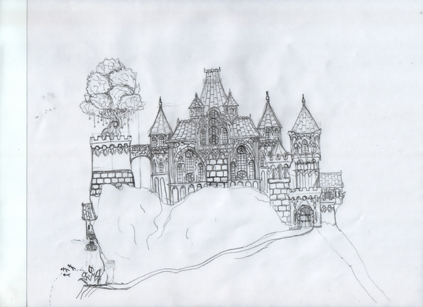 Gothic Castle Drawings Gothic castle 7 by hyosube0533