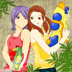 beat the heat with water guns