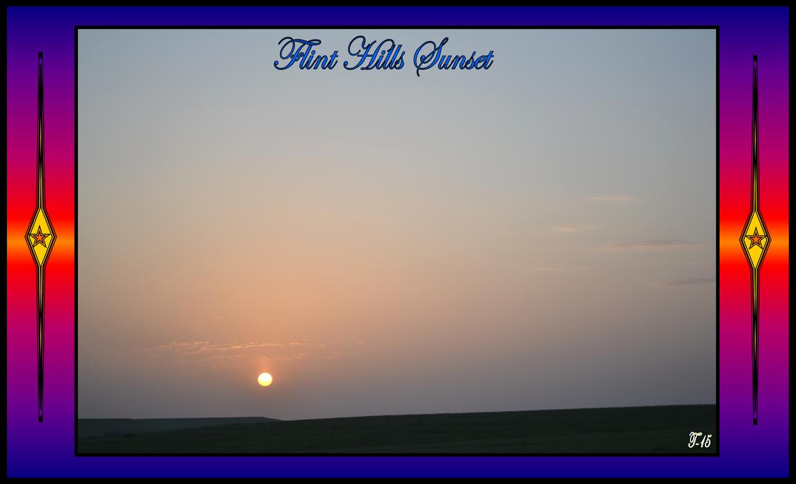 Flint Hills Sunset 2015 by Taures-15