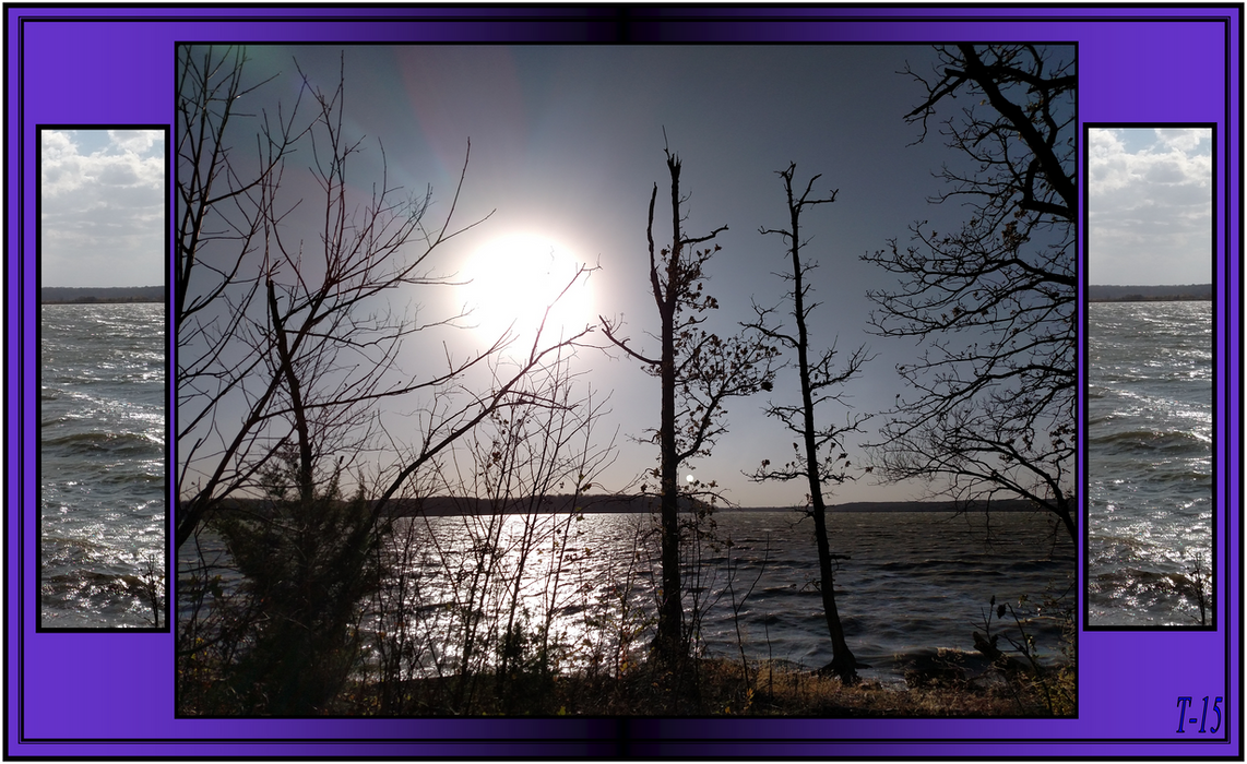Clinton Lake Early Fall with Lots of Wind 2015 by Taures-15