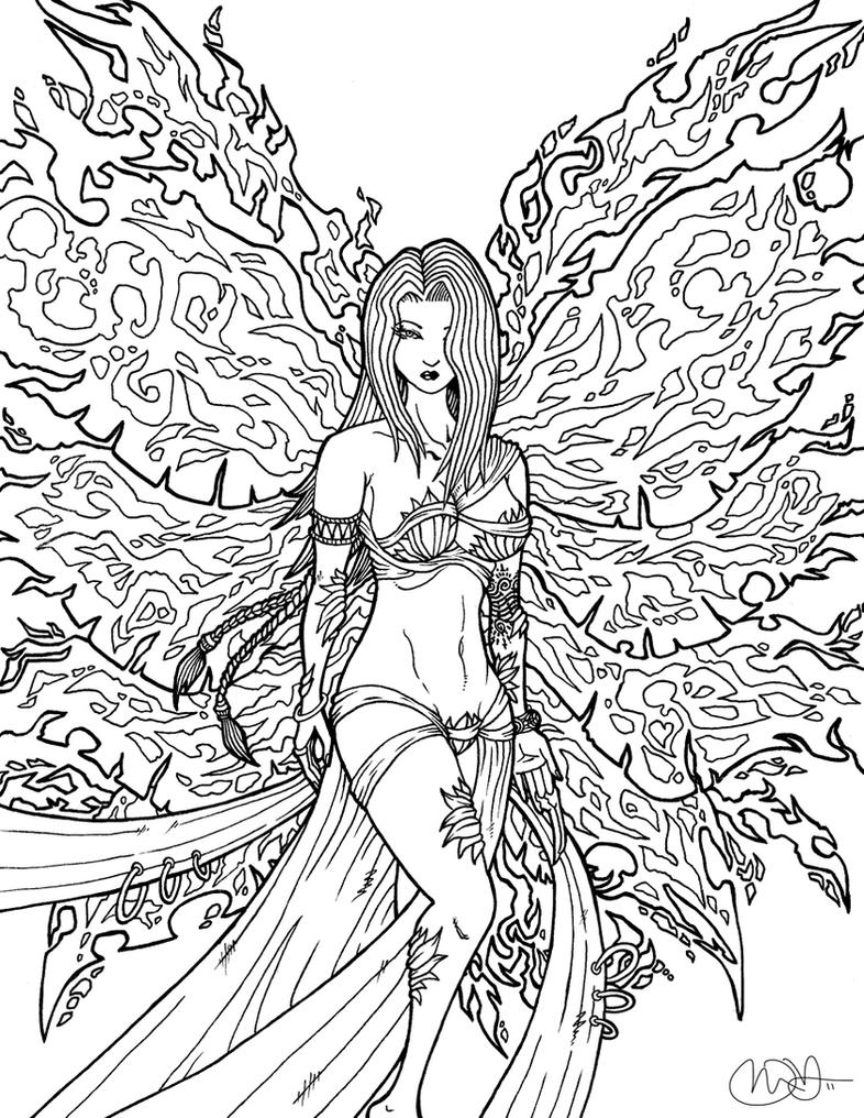 fire fairy coloring pages - world of warcraft free coloring pages