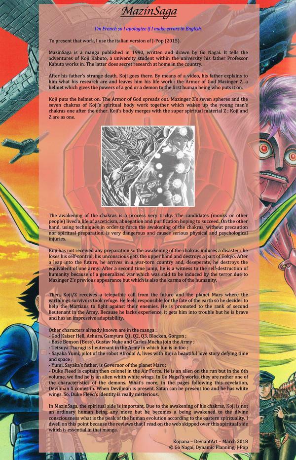 MazinSaga, the manga presentation by Kojiana