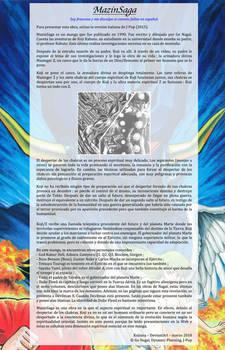 MazinSaga, presentacion del manga