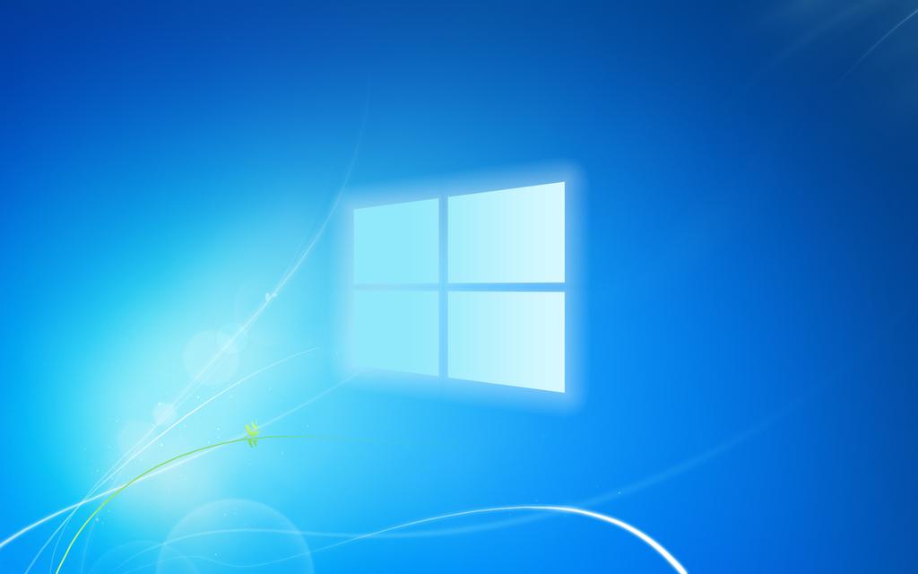 Windows 7 Default Wallpaper W Current Logo By ChemistZombie