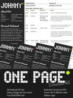 One Page Creative Resume by KaixerGroup