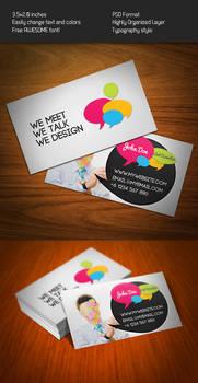Bubble Talk Business Card