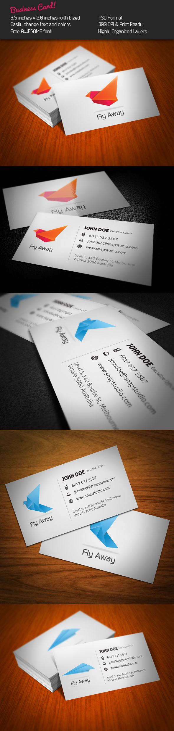 Fly Business Card by KaixerGroup